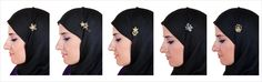 A Hijab should be draped and secured properly, else it will slip off. Using a Hijab pin will keep your Hijab in place.