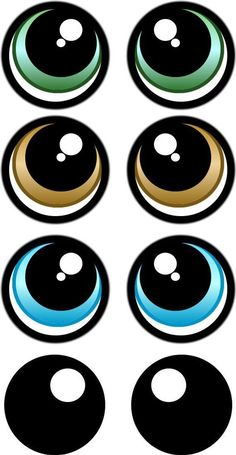 PRINT YOUR OWN Eye Stickers Template pack cartoon eye Pack print Stickers Template - fix. Clay Pot Crafts, Diy And Crafts, Crafts For Kids, Paper Crafts, Doll Eyes, Doll Face, Eye Stickers, Cartoon Eyes, Cartoon Art