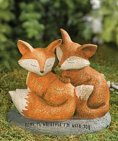 Look at this Fox Couple Garden Figurine on #zulily today!