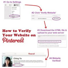 Have you verified your website on Pinterest yet? Only a few simple steps required, don't wait!