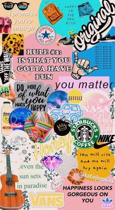 A cute vsco/aesthetic wallpaper Collage Mural, Wallpaper Collage, Wallpaper Free, Iphone Wallpaper Vsco, Trippy Wallpaper, Iphone 7 Wallpapers, Collage Background, Homescreen Wallpaper, Summer Wallpaper