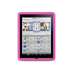 Silicone Silicon Case Skin Cover For Apple iPad Pink Silicone Silicon... ❤ liked on Polyvore featuring electronics, technology, computers, accessories and apple