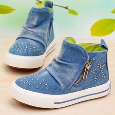hot kids Children's sports shoes girls canvas shoes High-top casual shoes #labishoes #CasualShoes