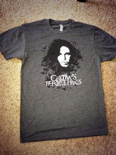 'Crows before Hoes' tshirt now available through our Etsy shop!