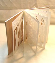 beautiful papercut handmade book