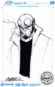 Hellboy commission by Humberto Ramos I need this in my life. Comic Book Artists, Comic Book Characters, Comic Artist, Artist Art, Comic Character, Comic Books Art, Humberto Ramos, Art Folder, Nerd Art