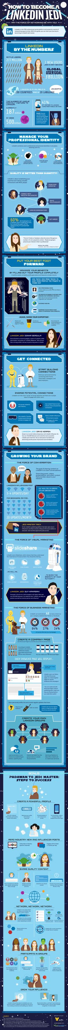 LinkedIn Infographic: May the Force (of Networking) Be With You! - #socialmedia #LinkedIn #Infographic