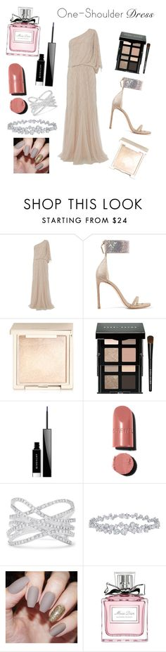 """""""nude love"""" by bee100 ❤ liked on Polyvore featuring Raishma, Stuart Weitzman, Jouer, Bobbi Brown Cosmetics, Givenchy, Chanel, Effy Jewelry, Harry Winston and Christian Dior"""