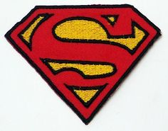 SUPERMAN - Cool  S  Logo Iron-On Patch