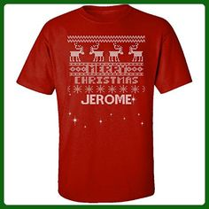 Ugly Christmas Sweater Greetings From Jerome - Adult Shirt 3xl Red - Holiday and seasonal shirts (*Amazon Partner-Link)