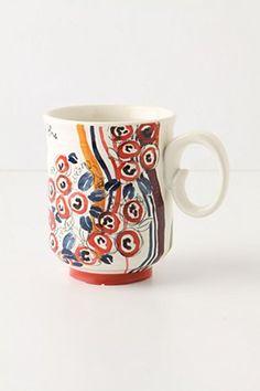 Script and Posy Mug
