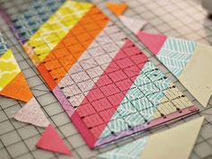 Herringbone quilt block tutorial