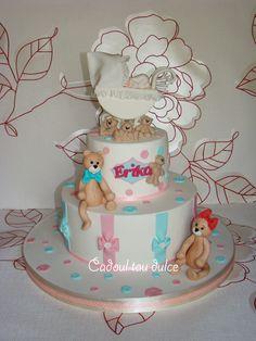 Tort de botez pentru Erika | Cadoul Tau Dulce Cake, Desserts, Food, Pie Cake, Tailgate Desserts, Pie, Deserts, Cakes, Essen