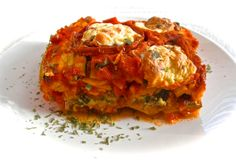 Vegetable lasagna portion from bertbuddy.com