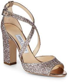 Jimmy Choo Women's Carrie Glitter Sandals