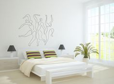 Wall Art inspired by Picasso's Mercury (Etude pour Mercure) XXL vinyl wall decal - removable wallpaper par cutnpasteshop sur Etsy https://www.etsy.com/fr/listing/113370024/wall-art-inspired-by-picassos-mercury