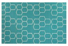 Morne Flat-Weave Rug, Blue/Ivory on OneKingsLane.com