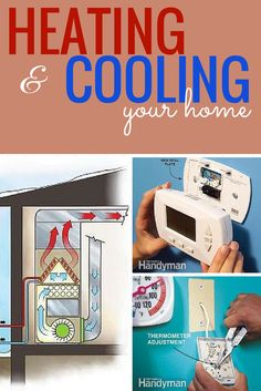 Heating and Cooling Your Home: Keep your air conditioner and furnace running efficiently with these DIY repairs and routine maintenance projects. Read more: http://www.familyhandyman.com/heating-cooling