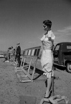 An atomic bomb test site, Nevada (1955)