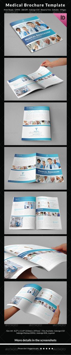 Health Brochure Template Brochure template, Brochures and - medical brochure template
