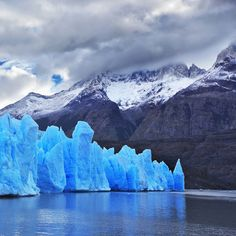 Blue Glacier in Patagonia Photographic Print on Canvas East Urban Home Size: L x W Puerto Natales, Painting Prints, Canvas Prints, In Patagonia, Sunset Background, Night City, Day Hike, New Travel, Nature Images