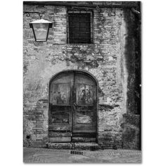 Trademark Fine Art San Gimignano Door Canvas Art by Moises Levy, Size: 24 x 32, Gray