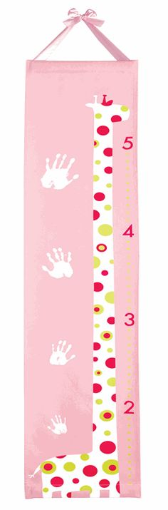 Handprint Growth Chart Pink Handprint Gifts