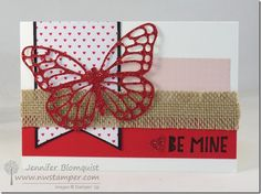 Glimmer butterflies and one of two cards for the Fun n' Crafty blog hop for February | Northwest Stamper