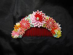 Hair ornaments of the Japanese kimono   つまみ細工