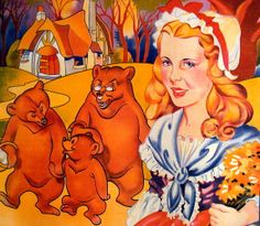 Goldilocks and the Three Bears | and the three bears print litho 1920s goldilocks and the three bears ...