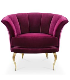 LUXURY ARMCHAIR | A rich purple color velvet armchair for a luxury decor  |www.bocadolobo.com/ #modernchairs #luxuryfurniture #chairsideas