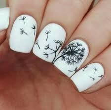 Resultado de imagen para uñas negras decoradas