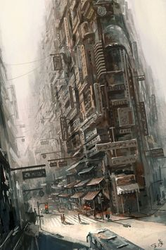"""""""6.29"""" by Wang Ling #cyberpunk #noir #city #cityscapes #future #dystopia"""