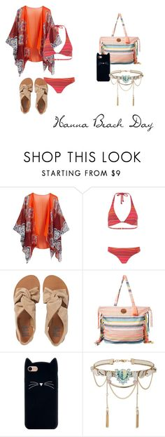 """""""Hanna Beach Day"""" by hiitscait on Polyvore featuring O'Neill, Billabong, Rip Curl, Miss Selfridge, Summer, comfy and swimsuit"""