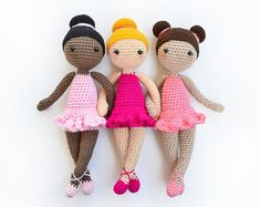 CROCHET PATTERN in English - Tracey the Ballerina Doll - Ballet - 11 in./28 cm. tall - Amigurumi Doll Crochet Toy - Instant PDF Download