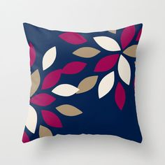 Throw PillowS Covers Navy Fuchsia Taupe Beige Geometric Home