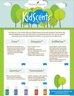 KidScents Essential Oils Blends from Young Living