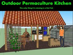 outdoor Permaculture Kitchen - interesting for ideas