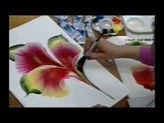 How to Paint Calla lily - Copos-de-leite - Cómo pintar lirio de calla. - YouTube