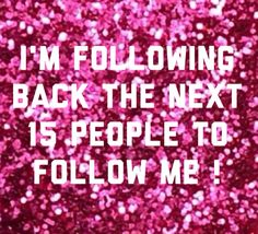 Just comment letting me know you followed. I haven't done one in a long time! :) Follow spree, if YA want too!!
