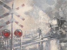 "Saatchi Online Artist Pic Poc; Painting, ""'Crossing'"" #art"
