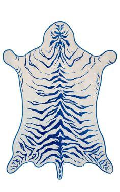 Marine Tiger Hide Beach Towel by Maslin & Co for Preorder on Moda Operandi