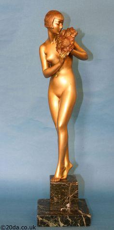 An Art Deco bronze by Raymonde Guerbe, France circa 1925.