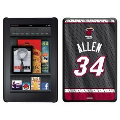 Ray Allen - Road Jersey Back design on a Black Thinshield Case for Amazon Kindle Fire by Coveroo. $39.95. This hard shell polycarbonate case offers a slim fit form factor, while covering the back and sides of your Kindle Fire