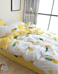 We have tons of pineapple bedding comforters duvet covers quilts sheets throw pillows shams and more. Find all sorts of pineapple bedding ideas with sizes like twin twin xl double full queen and king. Queen Bedding Sets, Twin Xl Bedding Sets, Cotton Bedding, Comforter Sets, Girls Bedroom, Bedroom Decor, Bedding Decor, Rustic Bedding, Duvet