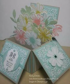 Flowers in a box card