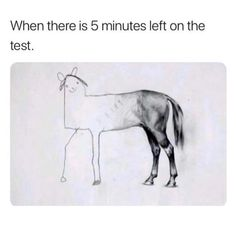 When there is 5 minutes left on a test