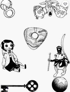 Kritzelei Tattoo, Piercing Tattoo, Piercings, Graffiti Drawing, Art Drawings, Little Tattoos, Small Tattoos, Coraline Tattoo, Coraline Aesthetic