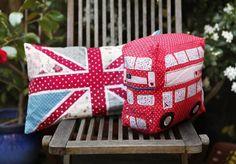 RJB Stone - London bus & flag cushions