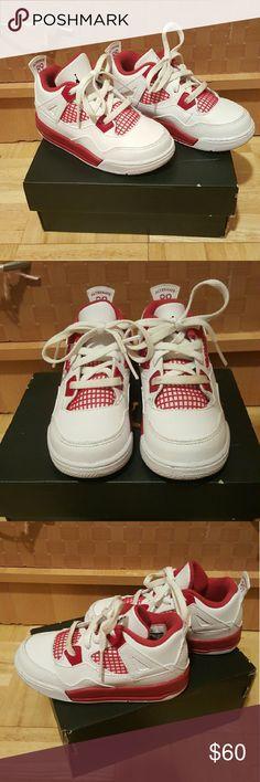Toddler Jordan Retro 4 Worn twice by 5 year old girl Jordan Shoes Sneakers